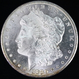 1880-S U.S. Morgan silver dollar