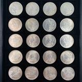 Lot of 20 different pre-1921 U.S. Morgan silver dollars