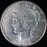 1927 U.S. peace silver dollar