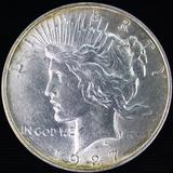 1927-D U.S. peace silver dollar