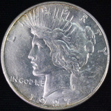 1927-S U.S. peace silver dollar