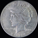 1934 U.S. peace silver dollar