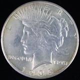 1935-S U.S. peace silver dollar