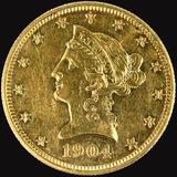 1904 U.S. $10 Liberty head gold coin
