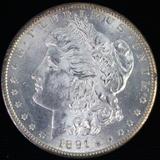 1891-S U.S. Morgan silver dollar