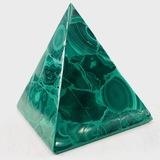 Large estate genuine malachite-inlaid pyramid