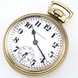 Circa 1917 21-jewel Hamilton 992 railroad lever-set open-face pocket watch