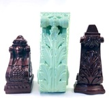 Lot of 3 decorative scrollworked stands/bookends