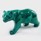 Estate genuine malachite bear figurine