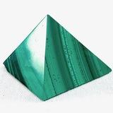 Small estate genuine malachite pyramid