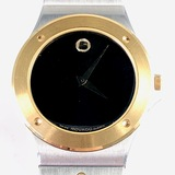 Estate Movado 2-tone stainless steel & 14K yellow gold-plated wristwatch
