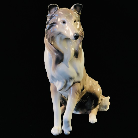 "Estate Lladro #6455 ""Collie"" porcelain figurine"