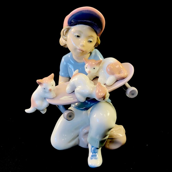 "Estate Lladro #7623 ""Little Riders"" porcelain figurine with original box"