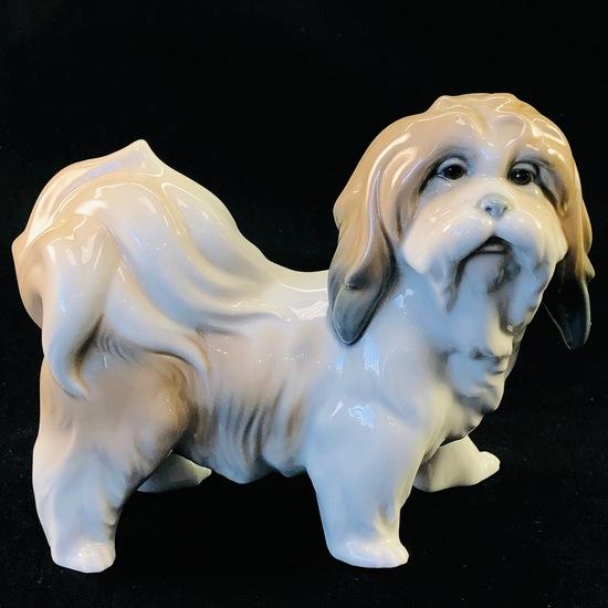"Estate Lladro #4642 ""Lhasa Apso/Tibetan Terrier"" porcelain figurine"