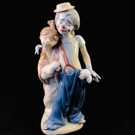 "Estate Lladro #7686 ""Pals Forever"" porcelain figurine with original box"