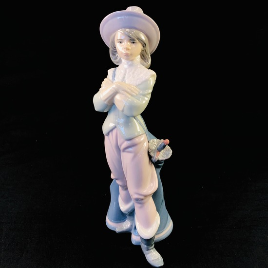 """Estate Lladro #6118 """"Musketeer Porthos"""" porcelain figurine"""