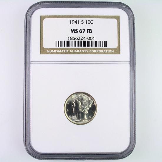 Certified 1941-S U.S. Mercury dime