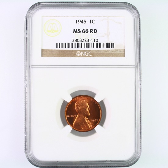 Certified 1945 U.S. Lincoln cent