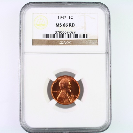 Certified 1947 U.S. Lincoln cent