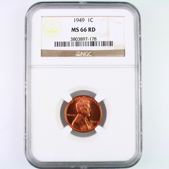 Certified 1949 U.S. Lincoln cent