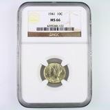 Certified 1941 U.S. Mercury dime