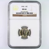 Certified 1943 U.S. Mercury dime