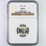 Certified 1944 U.S. Mercury dime
