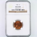 Certified 1938 U.S. Lincoln cent