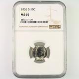 Certified 1955-S U.S. Roosevelt dime