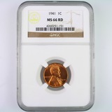 Certified 1941 U.S. Lincoln cent