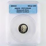 Certified 2004-S silver proof U.S. Roosevelt dime