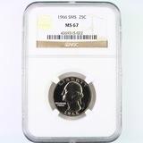 Certified 1966 special Mint set U.S. Washington quarter