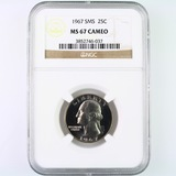 Certified 1967 special Mint set U.S. Washington quarter