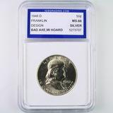 Certified 1948-D U.S. Franklin half dollar