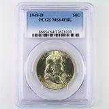 Certified 1949-D U.S. Franklin half dollar