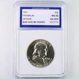 Certified 1951 U.S. Franklin half dollar