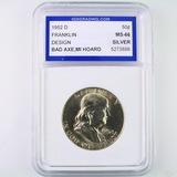 Certified 1952-D U.S. Franklin half dollar