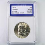 Certified 1952-S U.S. Franklin half dollar