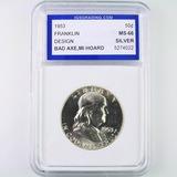 Certified 1953 U.S. Franklin half dollar