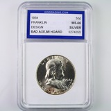 Certified 1954 U.S. Franklin half dollar