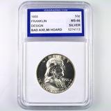 Certified 1955 U.S. Franklin half dollar