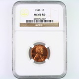 Certified 1948 U.S. Lincoln cent