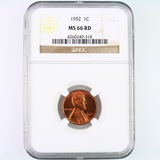 Certified 1952 U.S. Lincoln cent