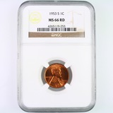Certified 1953-S U.S. Lincoln cent
