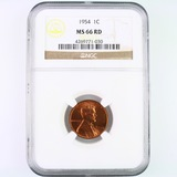 Certified 1954 U.S. Lincoln cent