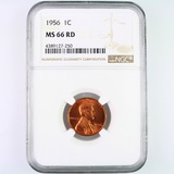 Certified 1956 U.S. Lincoln cent