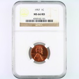Certified 1957 U.S. Lincoln cent