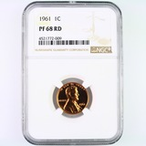 Certified 1961 proof U.S. Lincoln cent