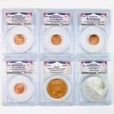 Certified 6-piece 2009 Lincoln Bicentennial coin & medal set