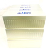 Lot of 12 empty estate hard plastic NGC certified coin boxes with lids